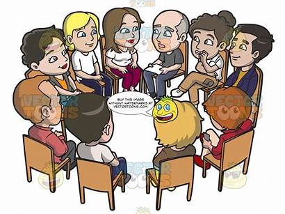 Meeting Support Clipart Cartoons Adult Groups Clubs