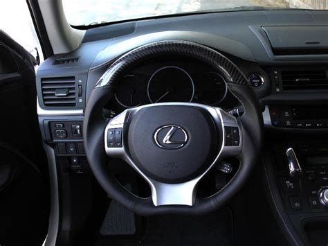 lexus cth carbon fiber steering wheel