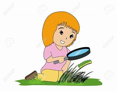 Curiosity Magnifying Glass Science Nature Guide Clipart