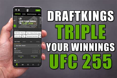 DraftKings Sportsbook Promo: Triple Your Profit for UFC ...