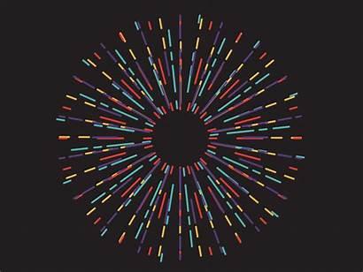 Fireworks Flat Animation Gifs Birthday Trance Dribbble