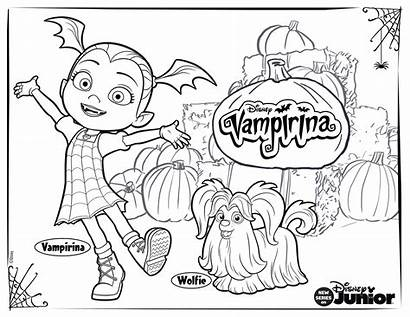 Vampirina Coloring Disney Pages Activity