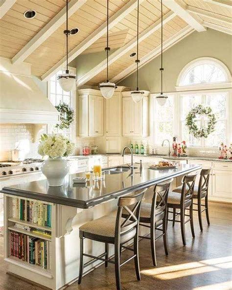 kitchen island and dining table 30 kitchen islands with seating and dining areas digsdigs