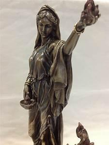 Greek Goddess Hestia Bronzed Statue Roman Vesta statue ...