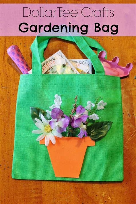 diy gardening tote bag dollar store spring craft  kids