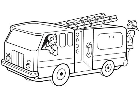 disegni da colorare camion dei pompieri disegni da colorare per bambini camion pompiere risorse