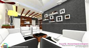 Living room interior decors ideas kerala home design and for Home interior wall design 2