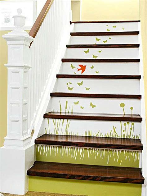 stairway ideas 20 diy wallpapered stair risers ideas to give stairs some flair architecture design