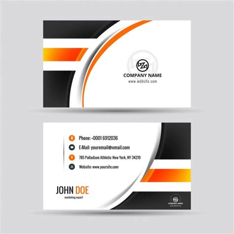 Hospital Id Card Template Choice Image Template Design Ideas Modern Visiting Card With Orange Details Vector Free
