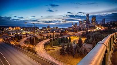 Seattle 4k Skyline Uhd Wallpapers Night 1080p