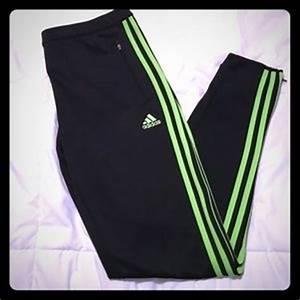 off Adidas Pants Adidas NWT Blue & Neon Green
