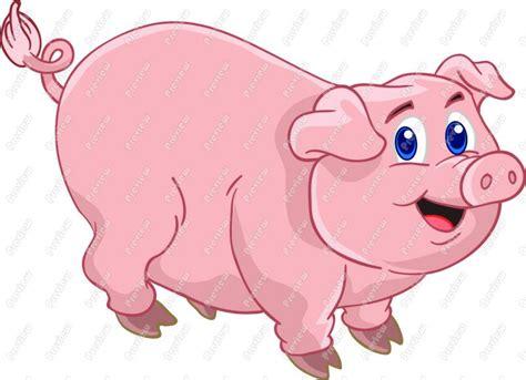 animated clip art  cartoon pig clip art cute pig