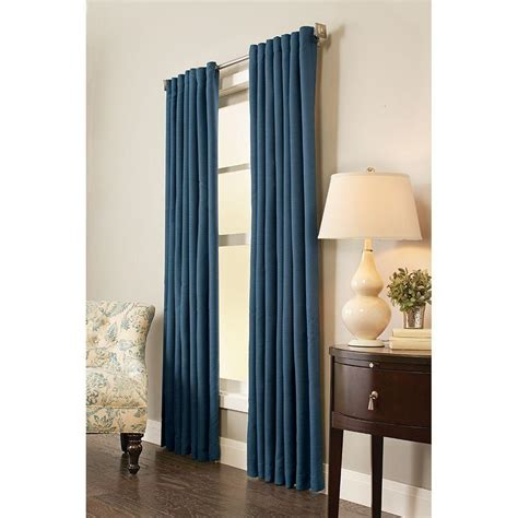 Back Tab Drapes by Home Decorators Collection Semi Opaque Indigo Room