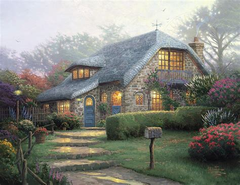 Kinkade Cottage by Lilac Cottage Kinkade Galleries Of New York New