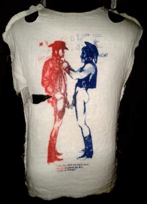 vintage boy gay cowboy muslin  shirt