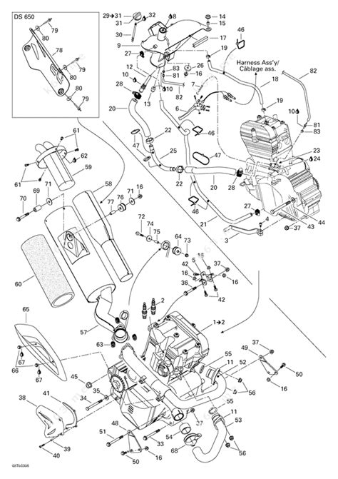 Baja Engine Diagram by Bombardier 2003 Ds 650 Baja Exhaust And Engine System