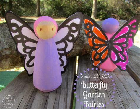 butterfly garden fairies peg people tutorial