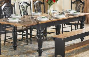 How To Paint Distressed Furniture Black by French Country Farm Table French Country Dining Table