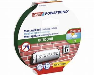 Tesa Powerbond Outdoor : tesa powerbond montagetape outdoor dubbelzijdig klevend wit 5 m x 19 mm kopen bij hornbach ~ Frokenaadalensverden.com Haus und Dekorationen