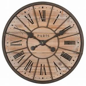 Maison Du Monde Horloge Murale : horloge en m tal et bois d 50 cm northwood maisons du monde ~ Teatrodelosmanantiales.com Idées de Décoration