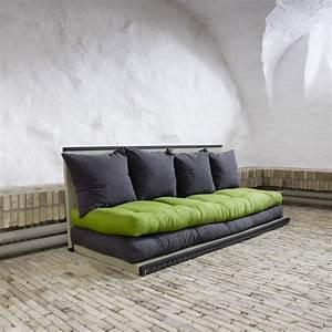 Canapé Convertible Avec Matelas : canap design tatami caroki avec futon matelas ~ Teatrodelosmanantiales.com Idées de Décoration