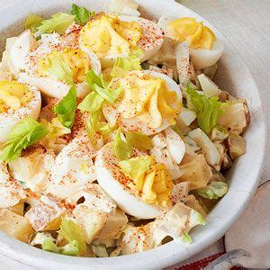 classic potato salad potato salad and potatoes on