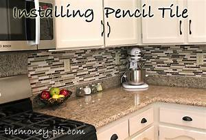 How to Install A Pencil Tile Backsplash (And What It Costs