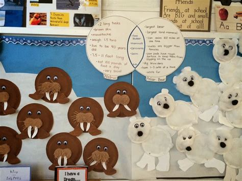crafts actvities and worksheets for preschool toddler and 502 | Cute Arctic Animals Bulletin Board