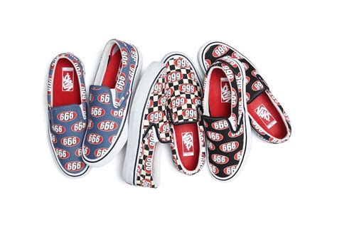Vans Supreme by Supreme X Vans Slip On 666 Collection Sneaker Bar Detroit
