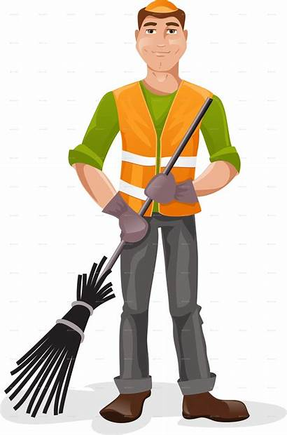Janitor Clipart Cartoon Broom Transparent Closet Webstockreview