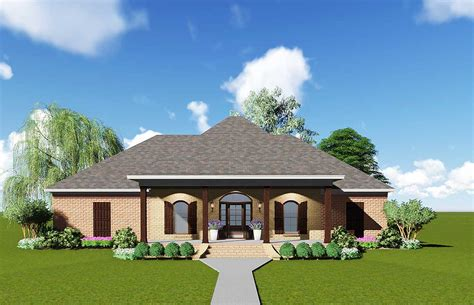 Acadian House Plan With Safe Room  83876jw  1st Floor