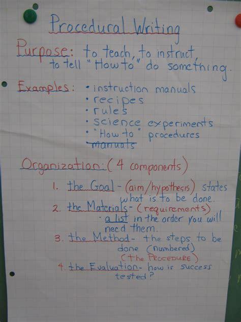 procedural writing procedural writing mr wendler s class