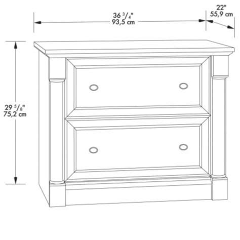 Sauder Palladia Lateral File Cabinet by Palladia 2 Drawer Lateral File Cabinet By Sauder