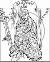 Coloring Printable Bigfoot Pages Sasquatch Yeti Colouring Etsy Morian Template Foot Drawings Footprints Monster Creatures Mythical Designlooter Templates Werewolf Similar sketch template
