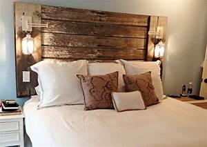 Lampe En Palette : 1001 mod les pour une t te de lit en palette de bois diy ~ Voncanada.com Idées de Décoration