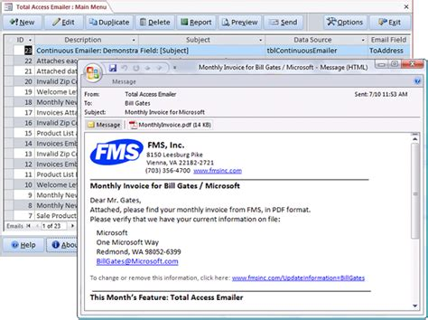 microsoft access email total access emailer sends emails