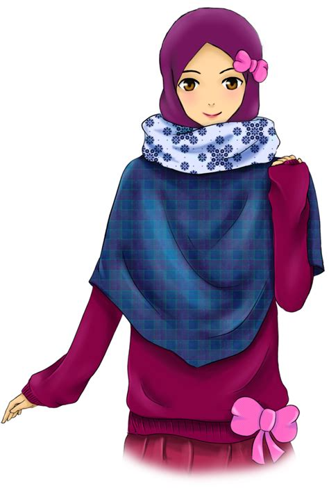 anime muslimah cantik ribbon by adhwa on deviantart