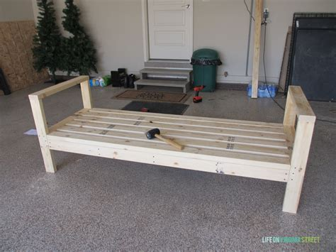 How To Build A Diy Outdoor Couch  Life On Virginia Street