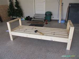 How to build a diy outdoor couch life on virginia street for Outdoor wood sectional sofa plans