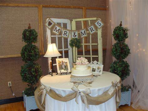burlap  lace wedding wedding cake table lace wedding