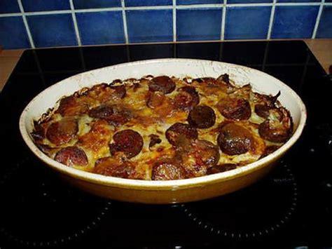 recette de gratin de pommes de terre a la saucisse de