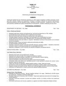 basic warehouse resume templates exle of objective for warehouse resume free resume templates