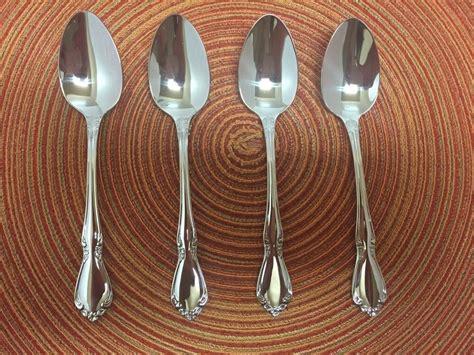 flatware oneida stainless steel community chateau brand teaspoons silverware cutlery