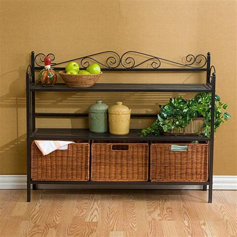 celtic  drawer bakers rack  hsn