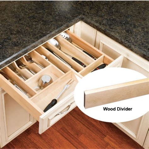 wooden kitchen drawer organizer drawer organizers wood dividers accessory for 1636