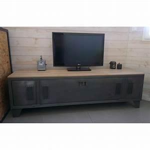 Tele 180 Cm : meuble tv industriel ou chaussures avec ancien vestiaire environ 52 cm de haut et 180 cm de ~ Teatrodelosmanantiales.com Idées de Décoration
