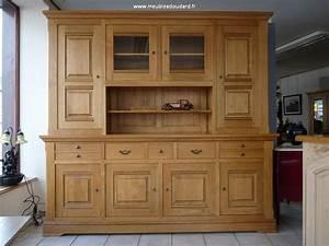 Bahut Chene Massif Contemporain : buffet vaisselier rustique bahut vaisselier campagne meuble vaisselier en bois rustique ~ Teatrodelosmanantiales.com Idées de Décoration