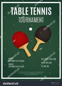 ping pong tournament table tennis background stock vector With table tennis tournament template