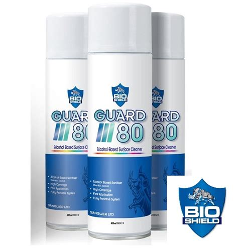bio shield guard  alcohol based ml sanitiser spray aone tools