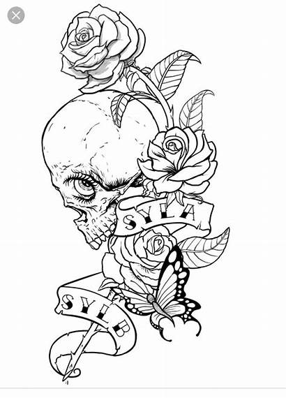Coloring Skull Pages Tattoos Tattoo Fairy Cool